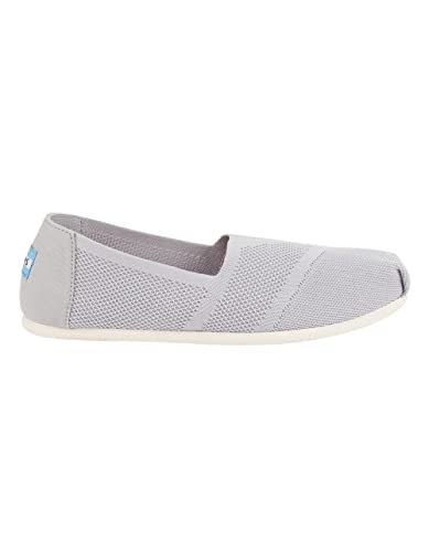 99bbf211447 Image Unavailable. Image not available for. Color  TOMS Women s Classic  Flat Slip-On Drizzle Grey Custom Knit 6.5