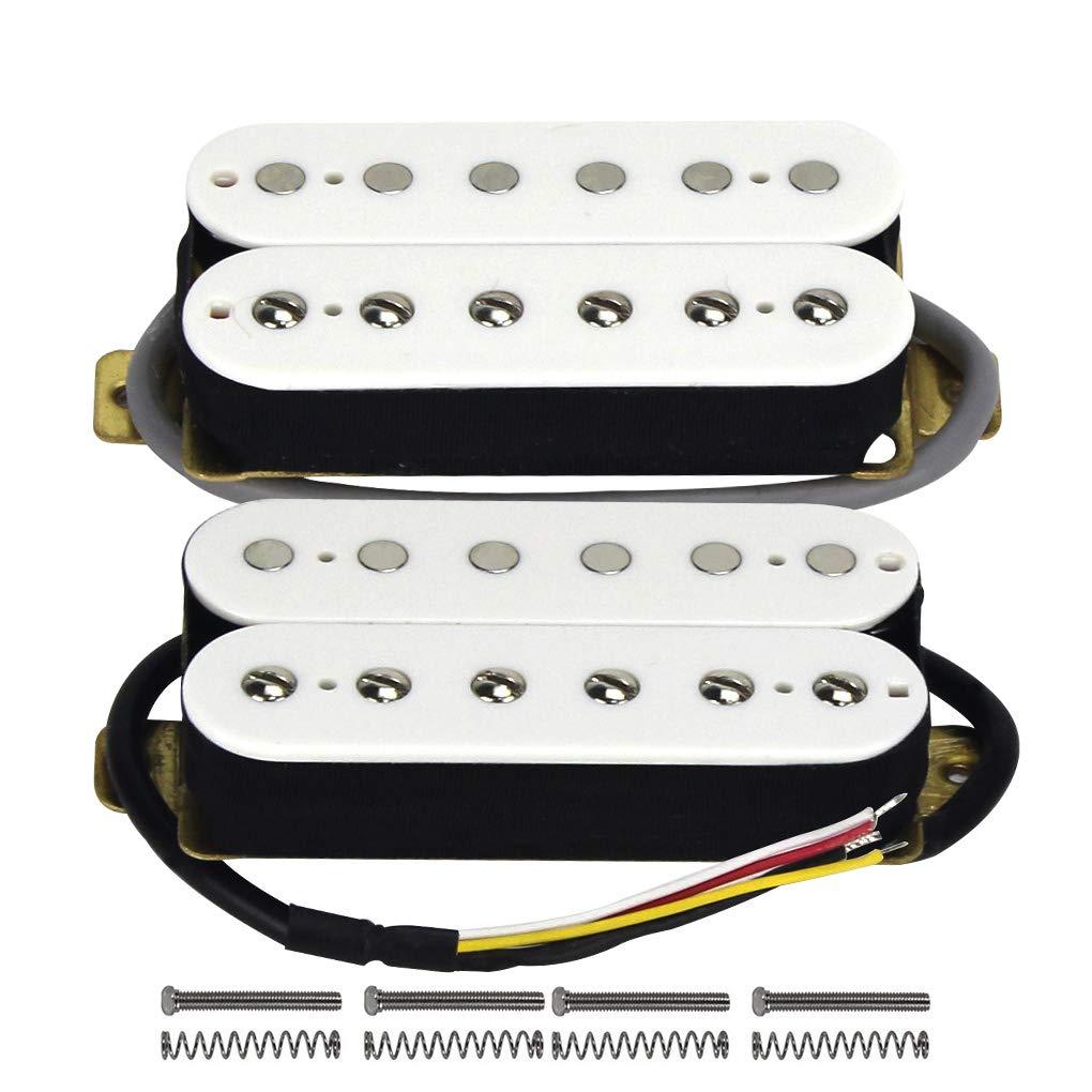FLEOR Electric Guitar Humbucker Pickups Bridge Alnico V Pickup Black iknmusic M00071-4