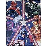 Marvel Plush Throw Blanket 50 X 60 Spider-man Hulk Thor Iron Man Captain America