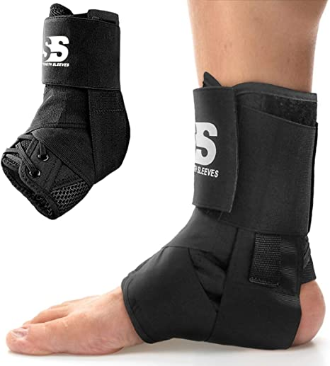 Sprained Ankle Stabilizer and Support Wrap Guard Volleyball Guaranteed Highest Copper Lace Up Ankle Braces for Men and Women with Infused Fit Copper Compression Lace Up Ankle Brace Basketball