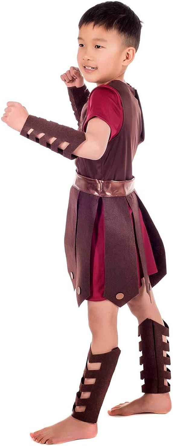 Amazon.com: Disfraz de gladiador para niños, uniforme de ...