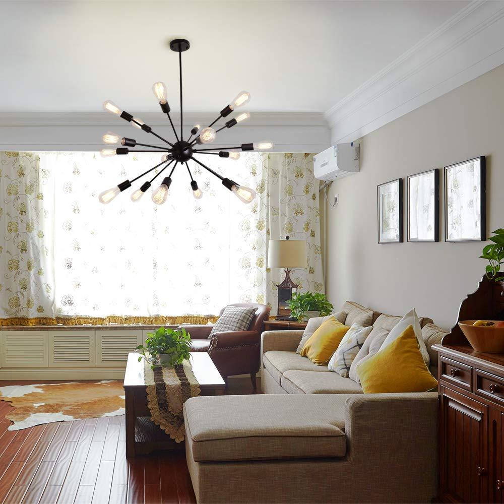 Brass Sputnik Chandeliers 10 Lights Modern Pendant Lighting Vintage Ceiling Light Fixture