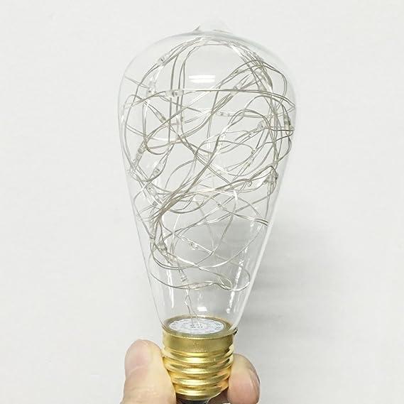 Illuminazione Vintage EONANT LED con 3W ST64 Vintage Edison Dartificio Lampadina Illumina il Bianco Caldo 2400K Bianco Caldo