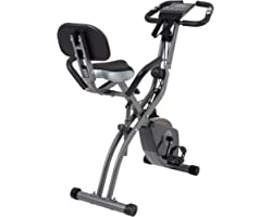 Exercise Bike 10 Levels of Adjustable Magnetic Resistance, Foldable and Quiet, with Arm Resistance Band, LCD Screen, Used for