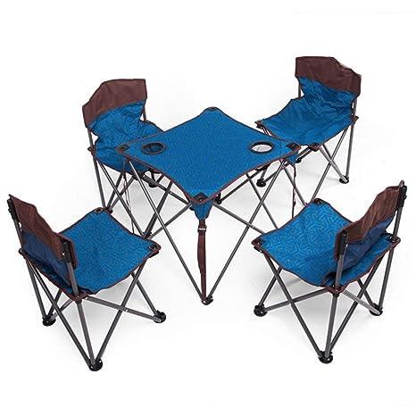 GBY, Inc. Juego de Mesa y Silla Plegable. Camping mesas y ...