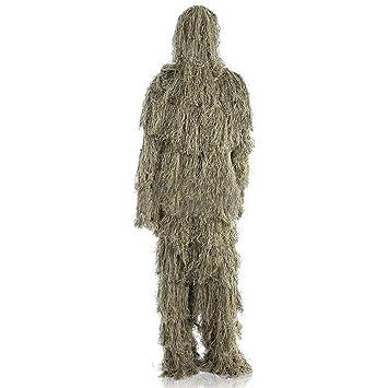 Byjia Ropa de Camuflaje Ghillie Suit, para Caza en la Jungla, Tiro, Airsoft, fotografía de Vida Silvestre o Halloween: Amazon.es: Deportes y aire libre