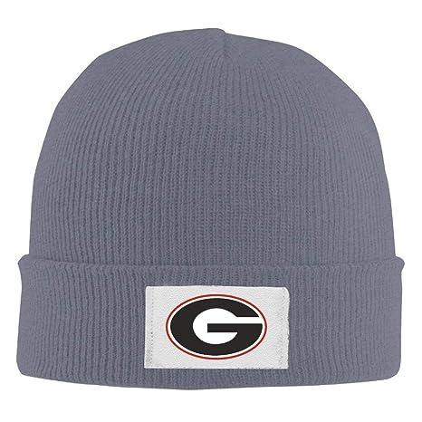 Amazon.com  WHROOER Crochet Georgia Bulldogs Football UGA Logo Beanie Hats   Home   Kitchen 4b822f294e8