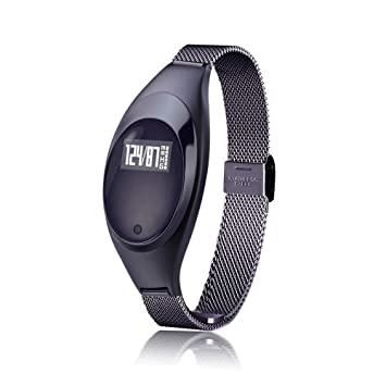 Msxx Relojes Inteligentes para Las Mujeres, Fitness Tracker Pulsera presión Arterial oximetría Ritmo cardíaco podómetro señoras Reloj Inteligente,Black: ...