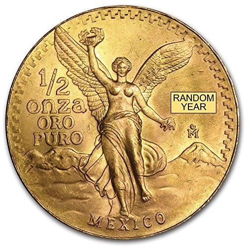 1981 MX - Present Mexico 1/2 oz Gold Onza &/or Libertad BU (Random Year) 1/2 OZ Brilliant Uncirculated