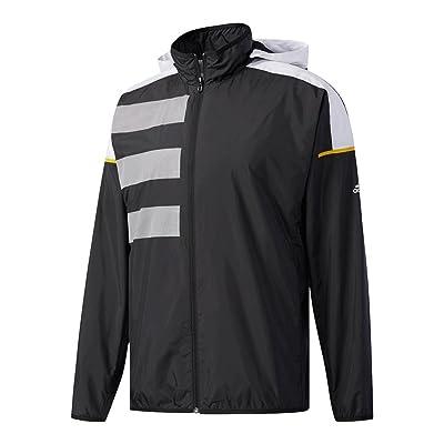 adidas Men`s Club Mesh Tennis Jacket Black and White-(BS0151-F17)