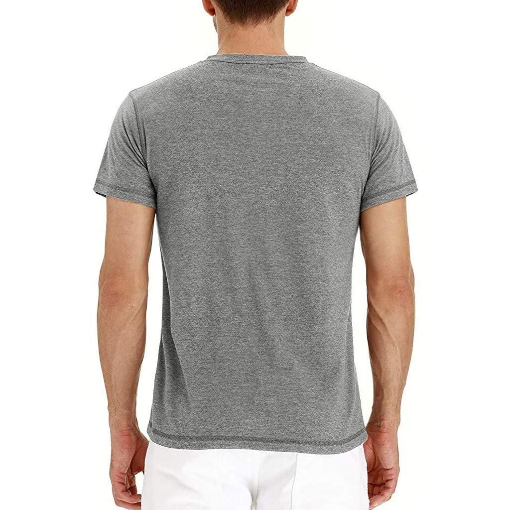 Mens Linens Top Slim Fitness T-Shirt Short Sleeve Linen Cotton Button-Down Running Traning Shirt