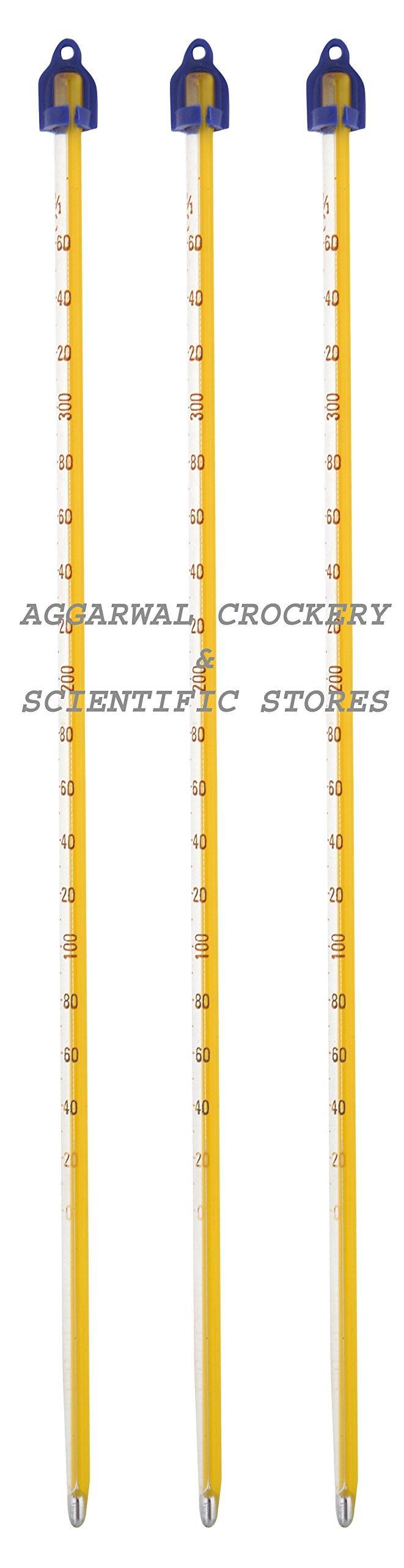 Aggarwal Crockery & Scientific Stores Thermomter Mercury 360 Deg. (Pack Of 3)