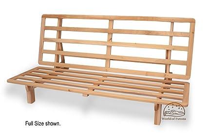 bi fold hardwood futon frame   full size amazon    bi fold hardwood futon frame   full size  kitchen  u0026 dining  rh   amazon