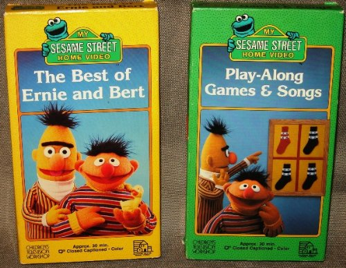 Sesame Street Home Video -- Play Along Games & Songs, The Best of Ernie and Bert, VHS