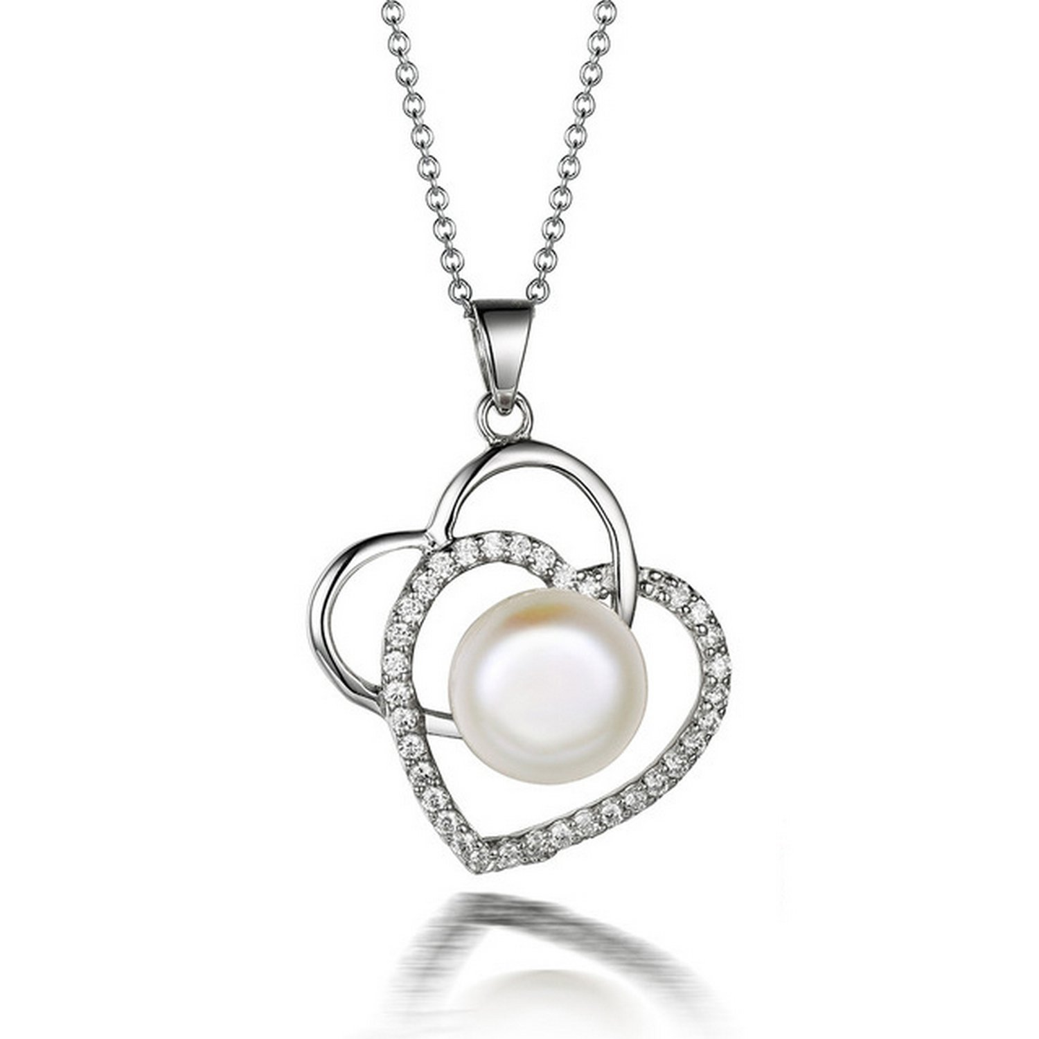 MMC 5.33ct 8-9MM Pearl Silver Pendants Necklaces