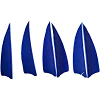 SHARROW 50 Piezas Plumas de Flecha 3 Pulgadas Tiro con Arco Plumas para Flechas Natural Fletching