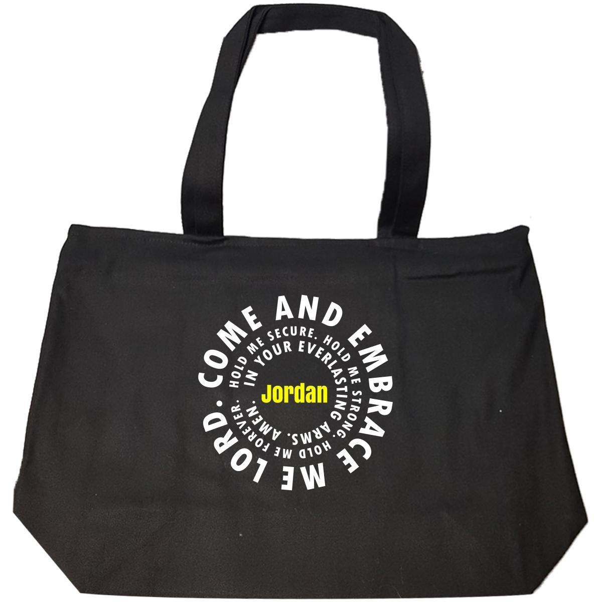 Jordan Prayer Catholic Christian God Religious - Tote Bag With Zip