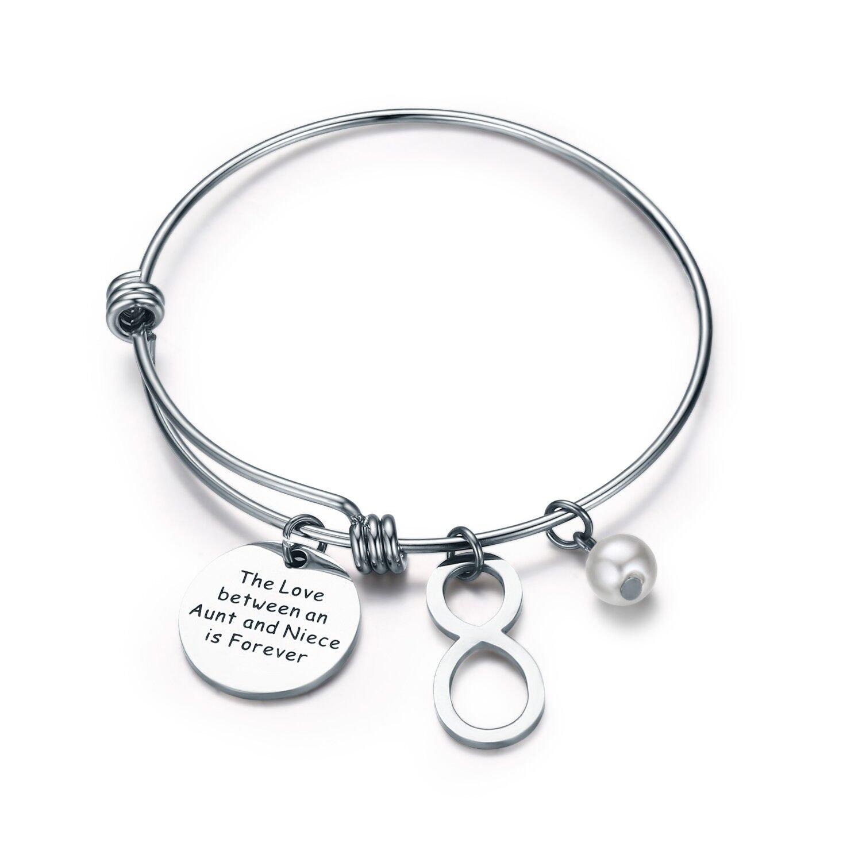 Amazon.com: CJ&M Aunt Niece Bracelet Bangle Bracelet - Aunt Jewelry ...