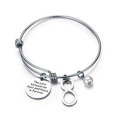Amazon Com Cj M Aunt Niece Bracelet Bangle Bracelet Aunt Jewelry