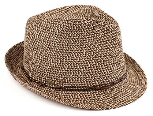 (H-6108-50307 Fedora - Brown Multi w/ Beaded)