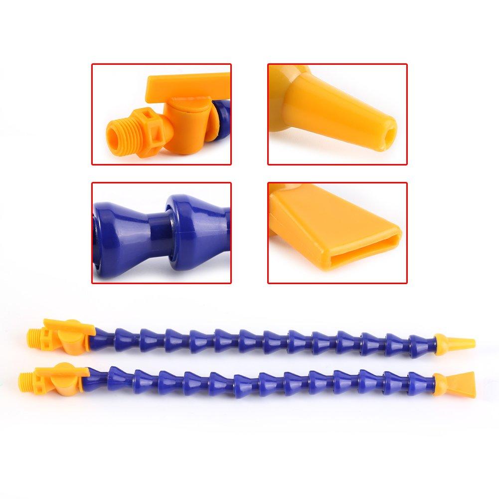 Baomain 3//4 PT Flat Nozzle Plastic Flexible Water Oil Coolant Pipe Hose