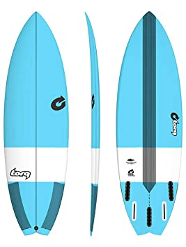 Tabla de Surf Torq epoxy Tec Performance Fish 6.6 Blue