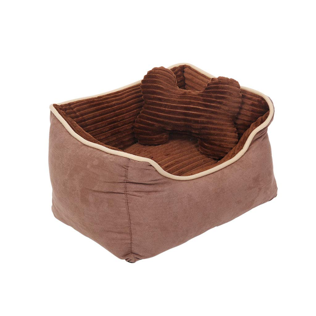 Brown 245160cm Brown 245160cm Bed Blankets Kennel pet nest winter baby cat dog bed large and medium-sized exclusive pet dog nest warm type coffee thick padded washable winter warm mat practical warm heart gift