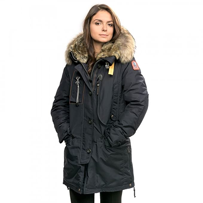 Parajumpers Kodiak Womens Hooded Long Parka Navy S