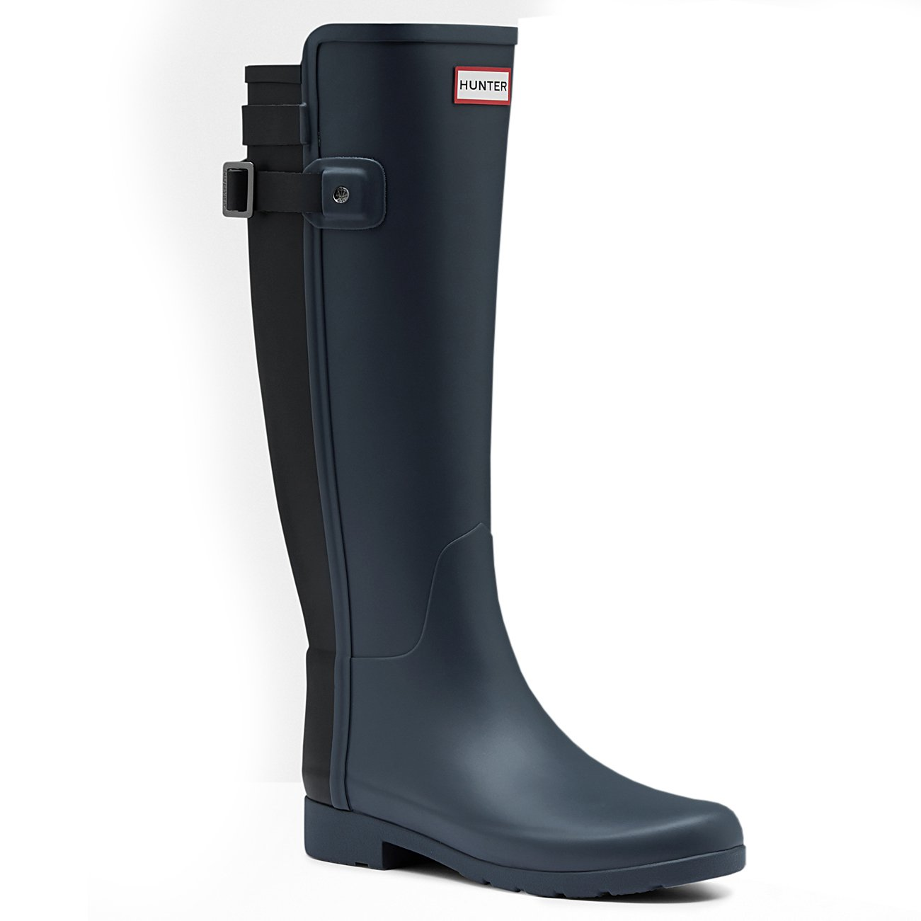 Womens Hunter Original Refined Back Strap Snow Wellingtons Rain Boot B01JOTV0JW 5 M US|Dark Slate/Black