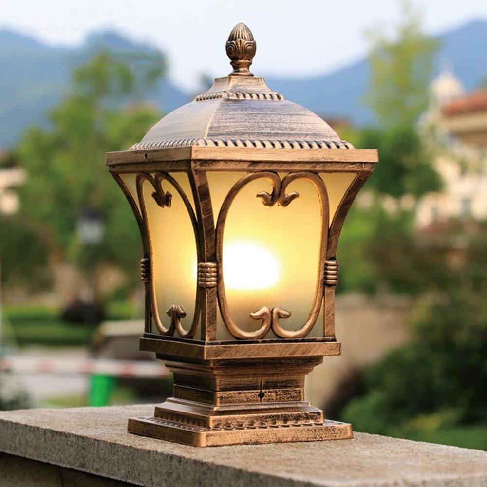 Neixy-カルテットゲートランプウォールランプポストヘッドライトヨーロッパスタイルの屋外アルミ防水防錆のピラシティ田舎のクラシックE27コラムヘッドライトガーデンバルコニーヴィラプールエッジの風景ライト (Color : Bronze, サイズ : 24cm) B07DDHQGVP 13069 24cm|Bronze Bronze 24cm