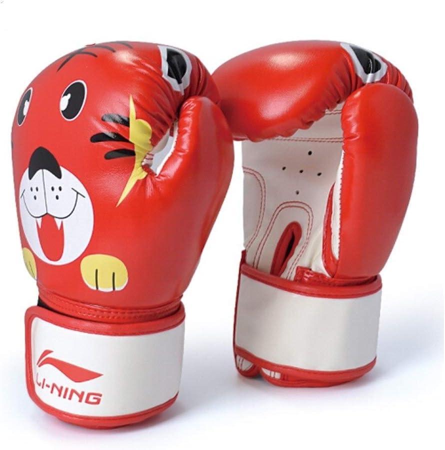 TMYQM プロのボクシンググローブ子供のボクシングサンダムエタイボクシングテコンドー格闘技ファイティングボクシングサンドバッググローブ中国赤 柔らかく快適 赤