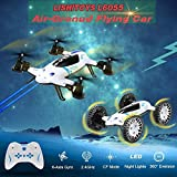 2 in 1 Drone L6055 2.4Ghz 4CH 6-Axis Gyro RC Flying Quadcopter car with Height Hold Mode Multipurpos
