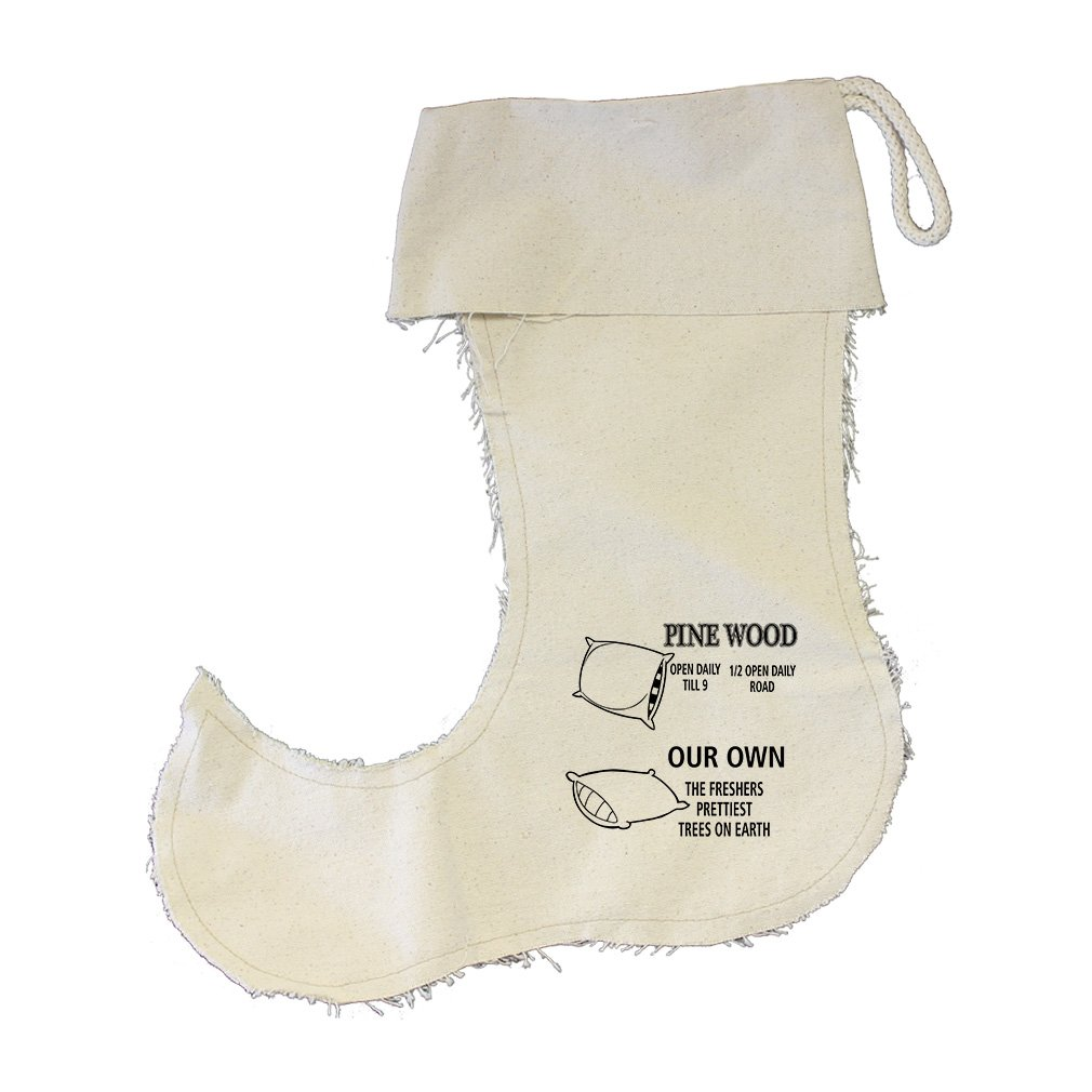 Pine Wood Tree Farm Our Own Cotton Canvas Stocking Jester - Small