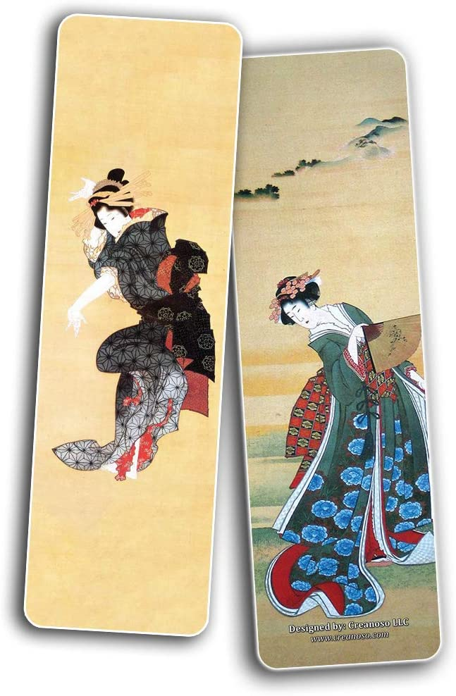 Katsushika Hokusai Japan Art Bookmarks 12-Pack