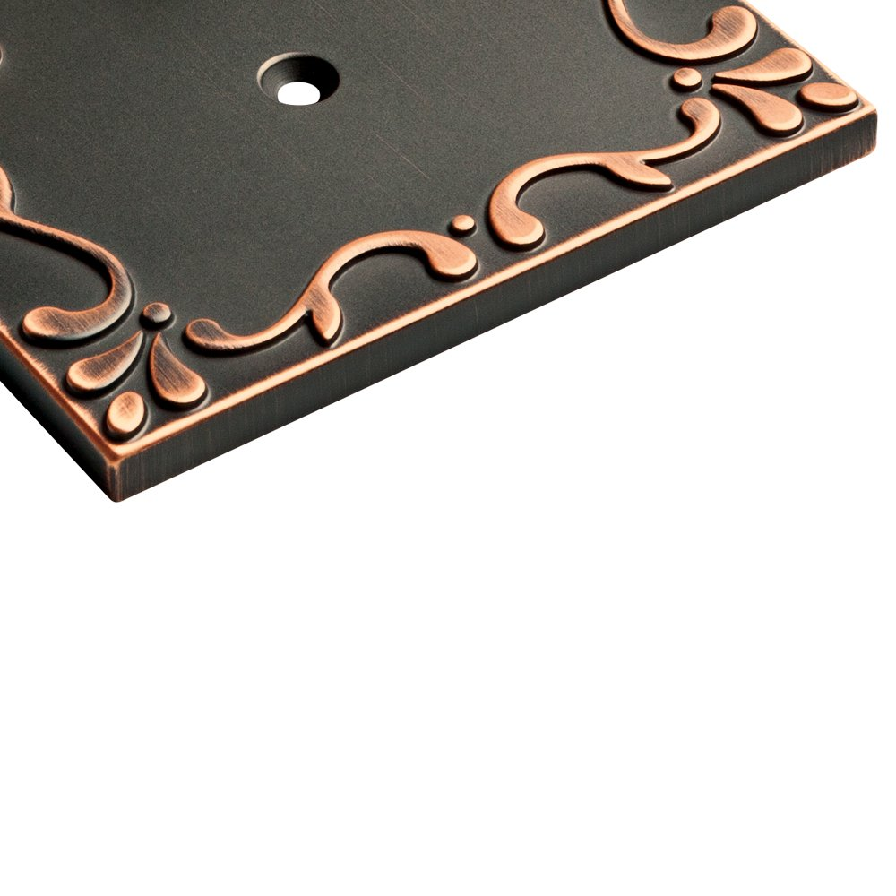 Franklin Brass W35078-VBC-C Classic Lace Triple Switch Wall Plate/Switch Plate/Cover with Copper Highlights, Bronze by Franklin Brass (Image #5)
