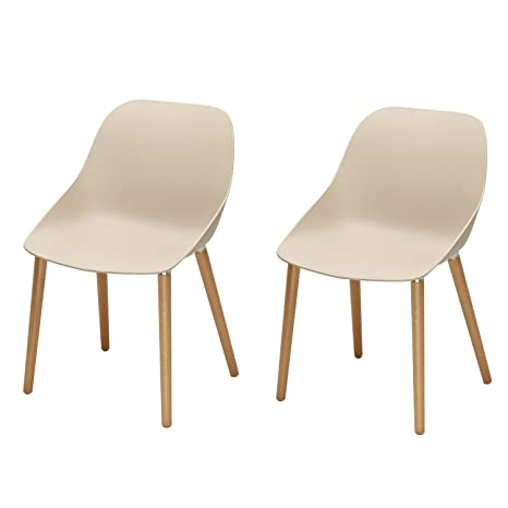 Awe Inspiring Homes Art Contemporary Furniture Safe And Kid Friendly Eames Stylish Kitchen Dining Chairs Pp Easy Clean Plastic Set Of 2 Beige Ibusinesslaw Wood Chair Design Ideas Ibusinesslaworg