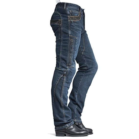 MAXLER JEAN Biker Jeans for men Motorcycle Motorbike riding Jeans 002 Blue 36