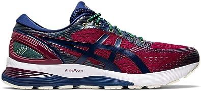 ASICS Gel-Nimbus 21 - Zapatillas de Running para Hombre, Rojo (Copo de Chili/Blue Expanse), 39.5 EU: Amazon.es: Zapatos y complementos