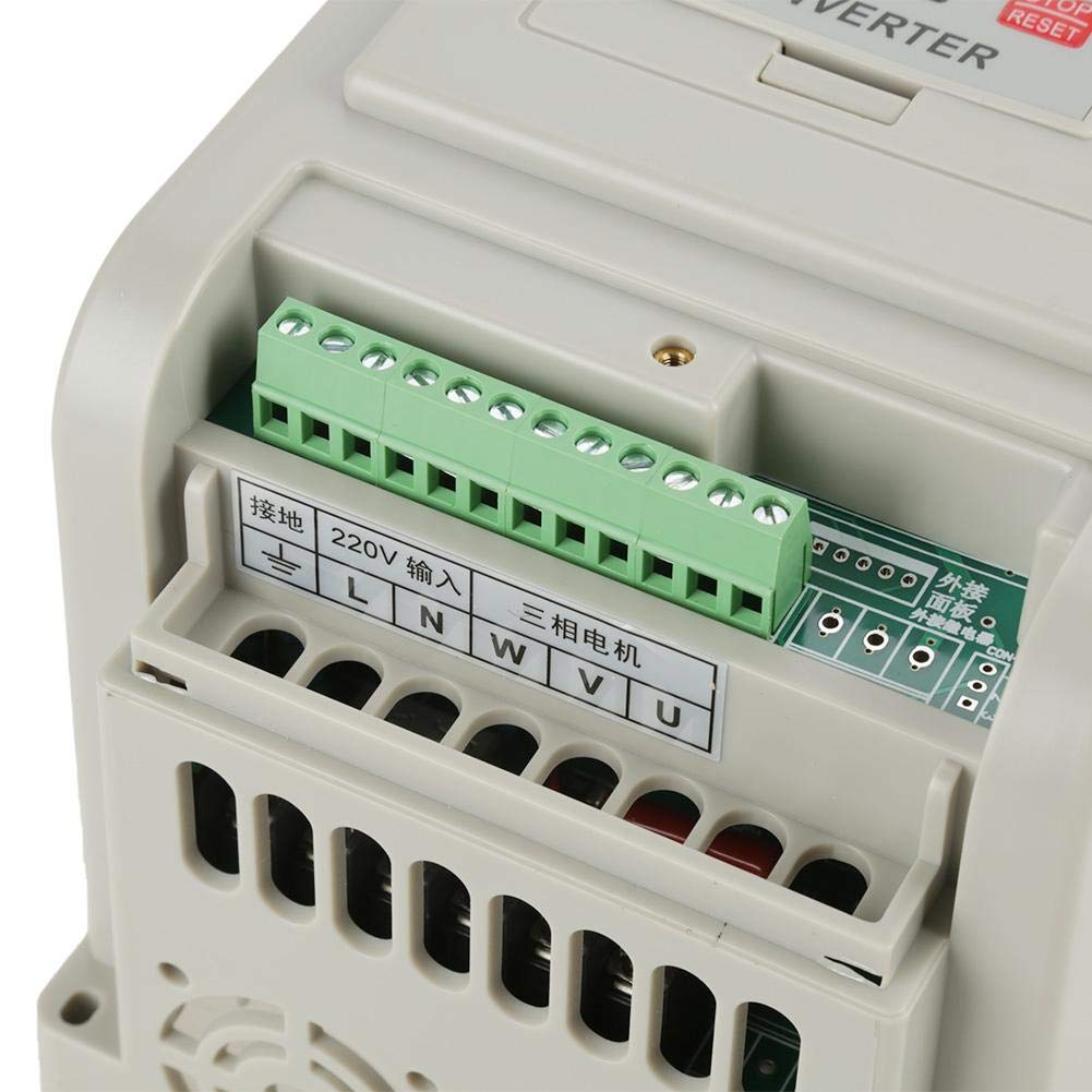 AC 220V 1.5KW Universal Variable Frequency Drive VFD Speed Controller for 3-Phase Motor Variable Frequency Drive