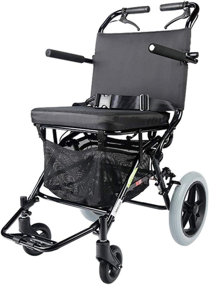 PNYGJZXQ Medical Rolling Walkers Silla de Ruedas Manual Silla de Ruedas Scooter discapacitado Portátil Carro de Compras Old Man Silla de Ruedas Plegable Puede soportar 100 kg