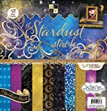 Die Cuts With a View Stardust Paper Stack, 12 by 12-inches (PS-005-00236)