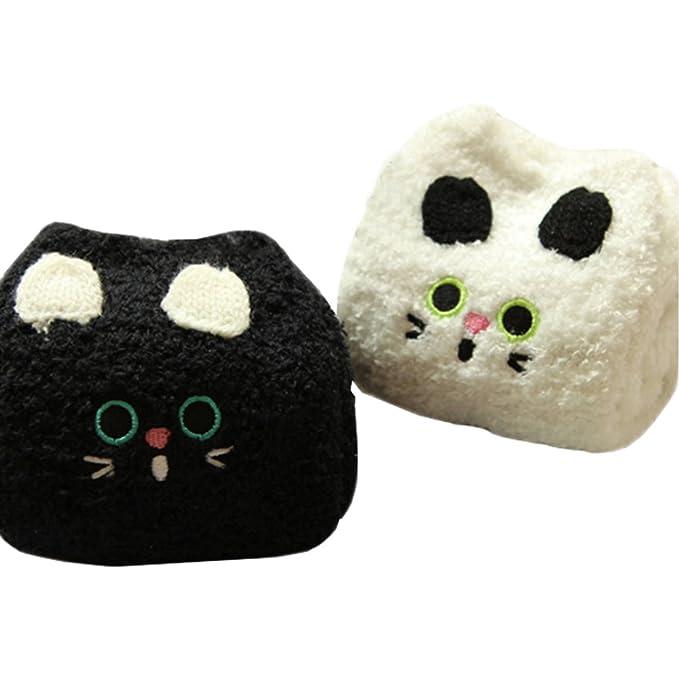 2 Pares Suave Fuzzy Dormir Medias Antideslizantes, Calcetines del Piso Calcetines- Gato: Amazon.es: Ropa y accesorios