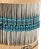 Pukido 3120pcs 1% 1/4W Metal Film Resistor Kit 156 Value 1R-10M Ohm Component Pack