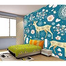 ZLJTYN 370cmX245cm Custom papel DE parede infantil, sika deer murals for children room bedroom setting wall waterproof silk cloth papel de parede