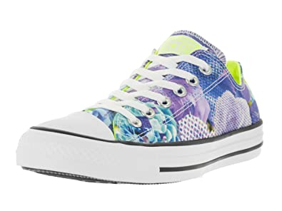 Converse Womens Chuck Taylor All Star Digital Floral Ox White Volt White  Basketball Shoe cce6975297