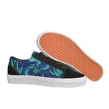 womens Skateboarding Shoes Suede rainforest snake Sport Sneaker