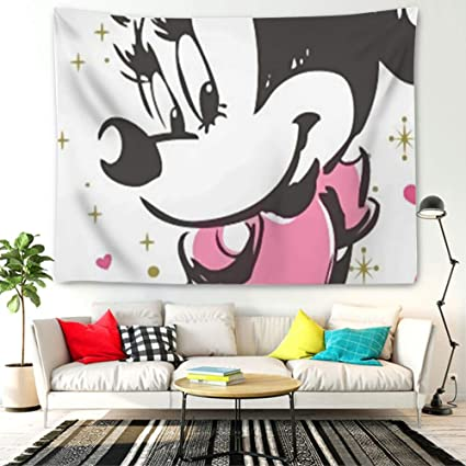 Amazon.com: DISNEY COLLECTION Tapestry Minnie Mouse Pink ...