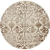 Modern Vintage Inspired Area Rugs Dark Beige 5 #39; FT Round Himalaya Collection Rug - rugs for livi