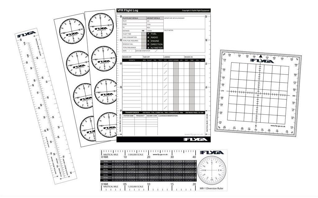フライトナビゲーションセット(航空スターターキット) - PPL(A)、LAPL、PPL(H)およびCPL学生パイロット用   B07CQV42PP