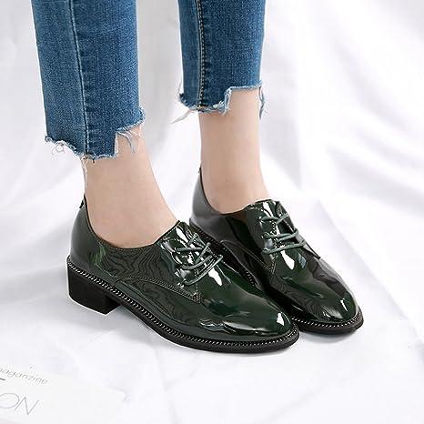 HAIZHEN Ladies Girls Botines Zapatos de tacón bajo/Comfort Heels Oficina y Carrera/Casual